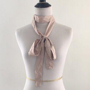 Silk sash belt long